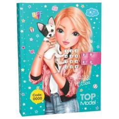 Музикален таен дневник с код Top Model - Момиче с куче