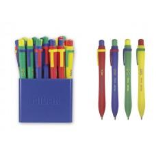 Химикалка Milan  автоматична,  Sway Mix 1.0 мм, синьопишеща