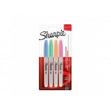 Комплект перманентни маркери Sharpie, F, 4 пастелни цвята, блистер