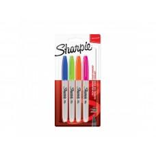 Комплект перманентни маркери Sharpie, F, 4 забавни цвята, блистер