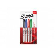 Комплект перманентен маркери Sharpie, F, 4 цвята, блистер