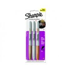 Перманентен маркер Sharpie Metallic, блистер, 3 цвята