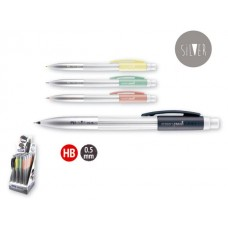 Автоматичен молив MILAN 0.5 мм и гума PL1 Silver