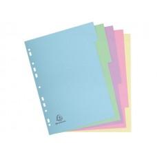 Разделител 5 цвята, еко картон 170 г/м2 Forever, А4