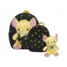 Детска раница  със слонче Fantasy черна