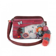 Чанта за през рамо с два ципа Ninette, Swing