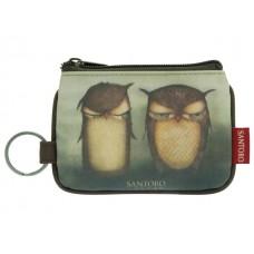 Портмоне с цип ключ Grumpy Owl, 12х9х1 см