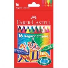 Восъчни пастели Faber Castell, 16 цвята