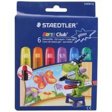 Пастели Staedtler гел с брокат , 6 цвята
