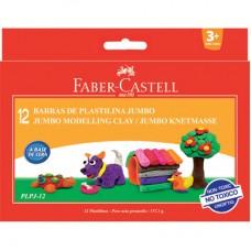 Моделин  клей Faber Castell Jumbo 12 цвята