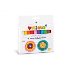 Пластилин PRIMO 10 цвята, 180 г