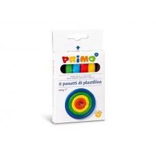 Пластилин  PRIMO 6 цвята, 110 г